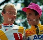 Greg Lemond con Laurent Fignon sul podio del Tour
