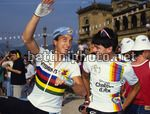 Clasica San Sebastian 1990 - Gianni Bugno (Chateau D'Ax) - Greg Lemond (Z) - BettiniPhoto©2010