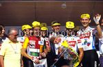Tour de France 1987 -  Davide Cassani - Stephen Roche - Erich Maechler - Guido Bontempi -(Carrera Jeans) - BettiniPhoto©2011