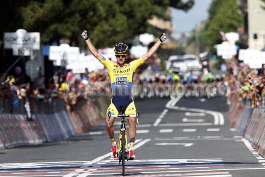 La gioia di Rogers sul traguardo di Savona - 11^ tappa del Giro d'Italia 2014 - © bettiniphoto
