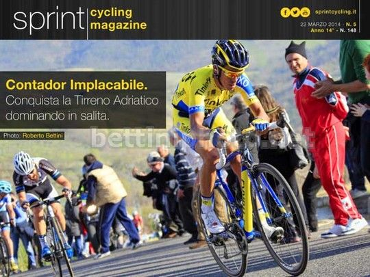 Sprint Cycling magazine cover 2014