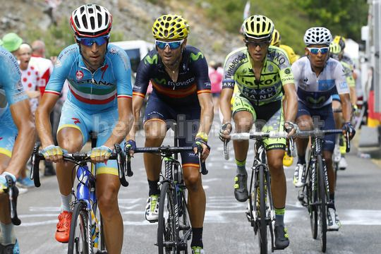 Nibali, Contador, Valverde e Quintana allo scorso Tour de France - © BettiniPhoto