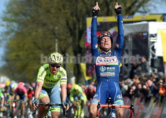 Enrico Gasparotto dedica la vittoria allo sfortunato Demoitié - © BettiniPhoto