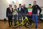 Selle Italia - Guerciotti 2017 - Press Conference and Team Presentation - 23/01/2017 - Fabio Aru (ITA - Astana Pro Team) - Paolo Guerciotti - Alessandro Guerciotti - Alice Arzuffi - Jakob Dorigoni - photo Dario Belingheri/BettiniPhoto©2017
