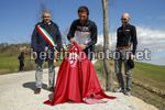 Cancellara's Sector Milestone Ceremony - 03/03/2017 - Mauro Vegni (ITA - RCS Sport) - Paolo Bonari (ITA - Mayor of Aasciano) - photo Luca Bettini/BettiniPhoto©2017