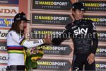 Milan Sanremo 2017 - 108th Edition - Milano - Sanremo 291km - 18/03/2017 - Peter Sagan (SVK - Bora - Hansgrohe) - Michal Kwiatkowski (POL - Team Sky) - photo Dario Belingheri/BettiniPhoto©2017