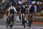 Milano Sanremo 2017 - 108th Edition - Milano - Sanremo 291 km - 17/03/2017 - Michal Kwiatkowski (POL - Team Sky) - Peter Sagan (SVK - Bora - Hansgrohe) - Julian Alaphilippe (FRA - QuickStep - Floors) - photo Roberto Bettini/BettiniPhoto©2017