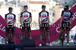 Giro d'Italia 2017 - 100th Edition - Team Presentation - Alghero - 04/05/2017 - Jan Polanc (SLO - UAE Team Emirates) - Simone Petilli (ITA - UAE Team Emirates) - Edward Ravasi (ITA - UAE Team Emirates) - photo Luca Bettini/BettiniPhoto©2017
