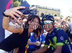Giro d'Italia 2017 - 100th Edition - 11th stage Firenze - Bagno di Romagna 161 km - 17/05/2017 - Selfie Barbara Pedrotti - Nairo Quintana (COL - Movistar) - photo Roberto Bettini/BettiniPhoto©2017