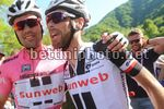 Giro d'Italia 2017 - 100th Edition - 11th stage Firenze - Bagno di Romagna 161 km - 17/05/2017 - Tom Dumoulin (NED - Team Sunweb) - Laurens Ten Dam (NED - Team Sunweb) - photo Ilario Biondi/BettiniPhoto©2017.
