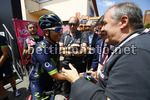 Giro d'Italia 2017 - 100th Edition - 14th stage Castellania - Oropa 131 km - 20/05/2017 - Nairo Quintana (COL - Movistar) - Mauro Vegni (ITA - RCS Sport) - photo Luca Bettini/BettiniPhoto©2017