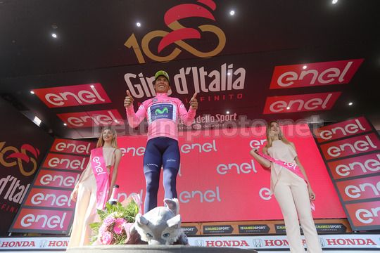 Giro d'Italia 2017 - 100th Edition - 19th stage San Candido - Piancavallo 191 km - 26/05/2017 - Nairo Quintana (COL - Movistar) - Photo Ilario Biondi/BettiniPhoto©2017