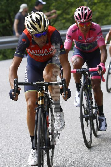 Giro d'Italia 2017 - 100th Edition - 20th stage Pordenone - Asiago 190 km - 27/05/2017 - Vincenzo Nibali (ITA - Bahrain - Merida) - Nairo Quintana (COL - Movistar) - Photo Luca Bettini/BettiniPhoto©2017