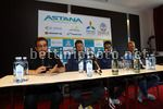 Tour de France 2017 - 104th Edition - Press Conference - 30/06/2017 - Gervais Rioux (CAN) - Jakob Fuglsang (DEN - Astana Pro Team) - Fabio Aru (ITA - Astana Pro Team) - Alexandr Vinokourov (KAZ - Astana Pro Team) - photo Luca Bettini/BettiniPhoto©2017