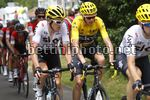 Tour de France 2017 - 104th Edition - 8th stage  Dole - Sation des Rousses 187.5 km - 08/07/2017 - Christopher Froome (GBR - Team Sky) - Geraint Thomas (GBR - Team Sky) - photo Luca Bettini/BettiniPhoto©2017