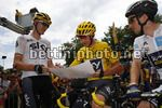 Tour de France 2017 - 104th Edition - 8th stage  Dole - Sation des Rousses 187.5 km - 08/07/2017 - Christopher Froome (GBR - Team Sky) - Christian Knees (GER - Team Sky) - photo Luca Bettini/BettiniPhoto©2017