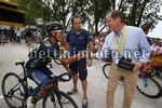 Tour de France 2017 - 104th Edition - 8th stage  Dole - Sation des Rousses 187.5 km - 08/07/2017 - Nairo Quintana (COL - Movistar) - Christian Prudhomme (FRA - ASO) - photo Luca Bettini/BettiniPhoto©2017