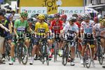 Tour de France 2017 - 104th Edition - 8th stage  Dole - Sation des Rousses 187.5 km - 08/07/2017 - Marcel Kittel (GER - QuickStep - Floors) - Christophe Riblon (FRA - AG2R - La Mondiale) - Simon Yates (GBR - ORICA - Scott) - Fabio Aru (ITA - Astana Pro Te