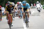 Tour de France 2017 - 104th Edition - 8th stage  Dole - Sation des Rousses 187.5 km - 08/07/2017 - Lilian Calmejane (FRA - Direct Energie) - Michael Valgren (DEN - Astana Pro Team) - photo Luca Bettini/BettiniPhoto©2017
