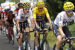 Tour de France 2017 - 104th Edition - 8th stage  Dole - Sation des Rousses 187.5 km - 08/07/2017 - Geraint Thomas (GBR - Team Sky) - Christopher Froome (GBR - Team Sky) - photo Luca Bettini/BettiniPhoto©2017