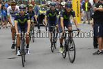 Tour de France 2017 - 104th Edition - 10th stage Perigueux - Bergerac 178 km - 11/07/2017 - Jonathan Castroviejo (ESP - Movistar) - Andrey Amador (CRI - Movistar) - Carlos Betancur (COL - Movistar) - photo Luca Bettini/BettiniPhoto©2017