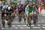Tour de France 2017 - 104th Edition - 11th stage  Eymet - Pau 203.5 km - 12/07/2017 - Marcel Kittel (GER - QuickStep - Floors) - Edvald Boasson Hagen (NOR - Dimension Data) - Michael Matthews (AUS - Team Sunweb) - photo Luca Bettini/BettiniPhoto©2017