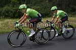 Tour de France 2017 - 104th Edition - 11th stage  Eymet - Pau 203.5 km - 12/07/2017 - Alberto Bettiol (ITA - Cannondale - Drapac) - Rigoberto Uran (COL - Cannondale - Drapac) - photo Luca Bettini/BettiniPhoto©2017
