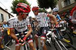 Tour de France 2017 - 104th Edition - 13th stage Saint Girons - Foix 101 km - 14/07/2017 - Haimar Zubeldia (ESP - Trek - Segafredo) - Alberto Contador (ESP - Trek - Segafredo) - photo Luca Bettini/BettiniPhoto©2017