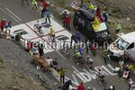 Tour de France 2017 - 104th Edition - 17th stage Le Murre - Serre Chavalier 183 km - 19/07/2017 - Scenery - Col di Galibier - Mikel Landa (ESP - Team Sky) - Christopher Froome (GBR - Team Sky) - Romain Bardet (FRA  - AG2R - La Mondiale) - Daniel Martin (I