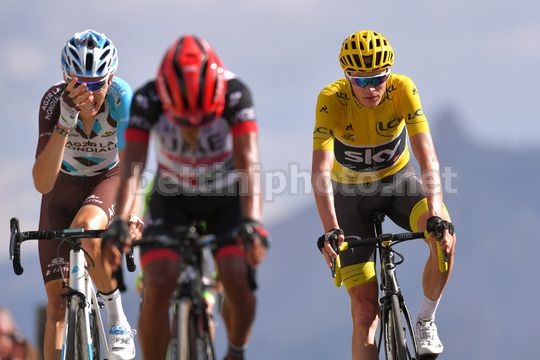 Tour de France 2017 - 104th Edition - 18th stage Briancon - Izoard 179.5 km - 20/07/2017 - Christopher Froome (GBR - Team Sky) - Romain Bardet (FRA  - AG2R - La Mondiale) - Photo TDW/BettiniPhoto©2017