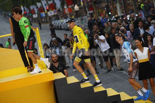 Tour de France 2017 - 104th Edition - 21th stage Montgeron - Paris 103 km - 23/07/2017 - Christopher Froome (GBR - Team Sky) - Rigoberto Uran (COL - Cannondale - Drapac) - Romain Bardet (FRA  - AG2R - La Mondiale) - Photo Luca Bettini/BettiniPhoto©2017