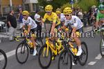 Tour de France 2017 - 104th Edition - 21th stage Montgeron - Paris 103 km - 23/07/2017 - Mikel Landa (ESP - Team Sky) - Christopher Froome (GBR - Team Sky) - Michal Kwiatkowski (POL - Team Sky) - photo TDW/BettiniPhoto©2017