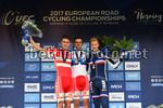 UEC Road European Championships 2017 - Herning - Under 23 TT - Day 2 - 03/08/2017 -  Kasper Asgreen (Denmark) - Mikel Bjerg (Denmark) - Corentin Armanault (France) - photo Dario Belingheri/BettiniPhoto©2017
