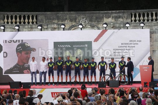Vuelta Espana 2017 - 18/08/2017 - Nimens - Team Presentation - Movistar  - Photo Luis Angel Gomez/BettiniPhoto©2017
