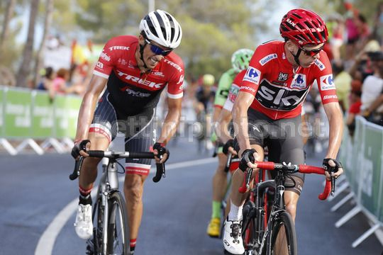 Vuelta Espana 2017 - 72th Edition - 5th stage Benicassim - Ermita Santa Lucia 175.7 km - 23/08/2017 - Christopher Froome (GBR - Team Sky) - Alberto Contador (ESP - Trek - Segafredo) - Photo Luis Angel Gomez/BettiniPhoto©2017
