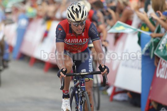 Vuelta Espana 2017 - 72th Edition - 5th stage Benicassim - Ermita Santa Lucia 175.7 km - 23/08/2017 - Valerio Agnoli (ITA - Bahrain - Merida) - Photo Luis Angel Gomez/BettiniPhoto©2017