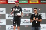 Vuelta Espana 2017 - 72th Edition - 16th stage Circuito de Navarra - Logrono 40,2 km - 05/09/2017 - Christopher Froome (GBR - Team Sky) - Miguel Indurain (ESP) - photo Luis Angel Gomez/BettiniPhoto©2017