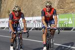 Vuelta Espana 2017 - 72th Edition - 18th stage Suances - Santo Toribio de Liebana 169 km - 07/09/2017 - Franco Pellizotti (ITA - Bahrain - Merida) - Ivan Garcia Cortina (ESP - Bahrain - Merida) - photo Luis Angel Gomez/BettiniPhoto©2017