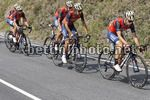 Vuelta Espana 2017 - 72th Edition - 19th stage Caso - Gijon 149.7 km - 08/09/2017 - Giovanni Visconti (ITA - Bahrain - Merida) - Franco Pellizotti (ITA - Bahrain - Merida) - photo Luis Angel Gomez/BettiniPhoto©2017