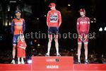 Vuelta Espana 2017 - 72th Edition - 21th stage Arroyomolinos - Madrid 117.6 km - 10/09/2017 - Christopher Froome (GBR - Team Sky) - Vincenzo Nibali (ITA - Bahrain - Merida) - Ilnur Zakarin (RUS - Katusha - Alpecin) - photo Luis Angel Gomez/BettiniPhoto©2
