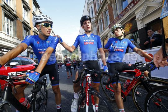 Road World Championship Bergen 2017 - UCI Junior Men Road Race 133,8 km - 23/09/2017 - Luca Rastelli (ITA) - Michele Gazzoli (ITA) - Photo Luca Bettini/BettiniPhoto©2017