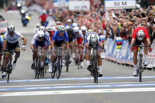 Road World Championship Bergen 2017 - UCI Men Elite' Road Race 267,5 km - 24/09/2017 - Peter Sagan (Slovakia) - Alexander Kristoff (Norway) - Michael Matthews (Australia) - Photo Luca Bettini/BettiniPhoto©2017