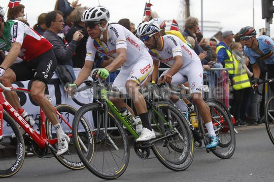 Road World Championship Bergen 2017 - UCI Men Elite' Road Race 267,5 km - 24/09/2017 - Rigoberto Uran (Colombia) - Fernando Gaviria (Colombia) - Photo Luca Bettini/BettiniPhoto©2017