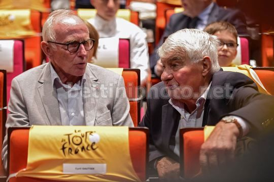 Tour de France 2018 - Paris - Palais des Congres - Presentation - Joop Zoetemelk Joop - Raymond Poulidor - Photo Nico Vereecken/PN/BettiniPhoto©2017