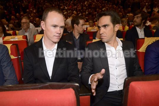 Tour de France 2018 - Paris - Palais des Congres - Presentation - Christopher Froome (GBR - Team Sky) - Alberto Contador (ESP - Trek - Segafredo) - Photo Nico Vereecken/PN/BettiniPhoto©2017