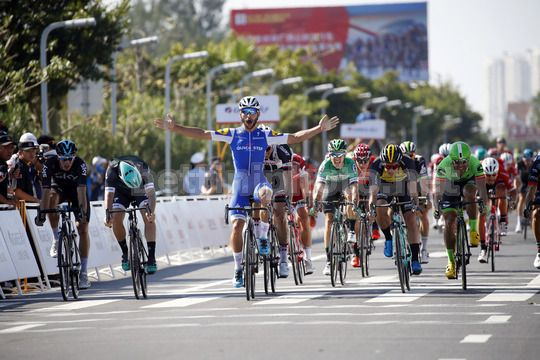 Tour of Guangxi 2017 - 1st edition - 19/10/2017 - 1st stage Beihai City - Beihai City 107.4 km - Fernando Gaviria (COL - QuickStep - Floors) - Photo Luca Bettini/BettiniPhoto�17