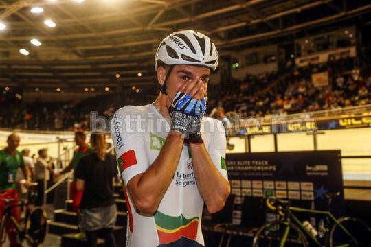 2017 UEC Elite Track European Championships - Berlin - day 2 - 19/10/2017 - Men's Elimination - Rui Oliveira (Portugal POR) - Photo Roberto Bettini/BettiniPhoto©2017