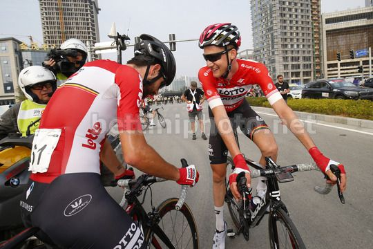 Tour of Guangxi 2017 - 1st Edition - 5th stage Liuzhou - Guilin 212.2 km - 23/10/2017 - Thomas De Gendt (BEL - Lotto Soudal) - Tim Wellens (BEL - Lotto Soudal) - Photo Luca Bettini/BettiniPhoto©2017