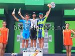 Tour of Hainan 2017 - 8th stage Lingshui - Wanning Xinglong 153.8 km - 05/11/2017 - Joseph Cooper (AUS - IsoWhey Sports SwissWellness team) - Emils Liepins (LTV - Delko Marseille Provence KTM) - Andriy Kulyk (UKR - Kolss Cycling Team) - photo JFQ/BettiniP