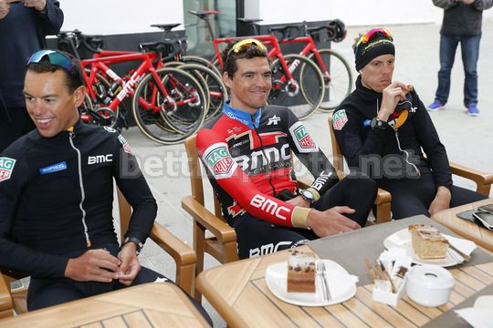BMC Training Camp Calpe - Spain - 11/12/2017 - Richie Porte (AUS - BMC) - Greg Van Avermaet (BEL - BMC) - Alessandro De Marchi (ITA - BMC) - Photo Luis Angel Gomez/BettiniPhoto©2017
